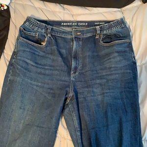 AE Stretch mom jean fit size 14/16